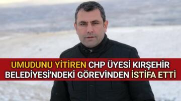 """""""BELEDİYE'Yİ BAŞKA ZİHNİYETLER YÖNETİYOR"""" DEDİ VE GÖREVİNDEN İSTİFA ETTİ"""