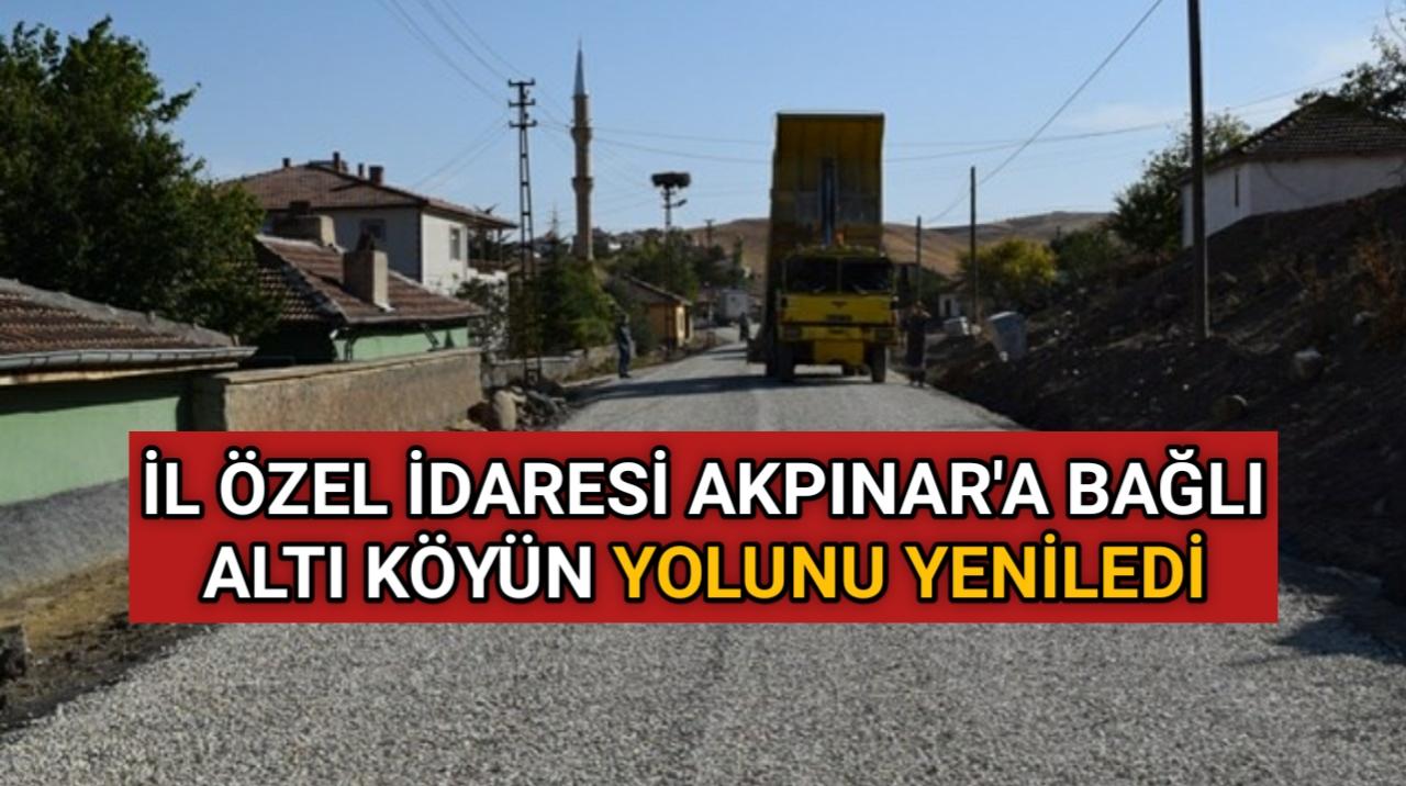 AKPINAR'IN KÖYLERİNE 18 KM' LİK YOL YAPIMI