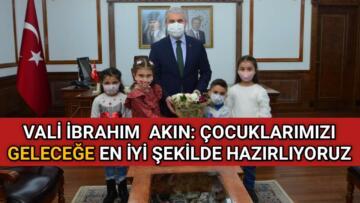KIRŞEHİR'Lİ ÇOCUKLARDAN VALİ AKIN'A ZİYARET