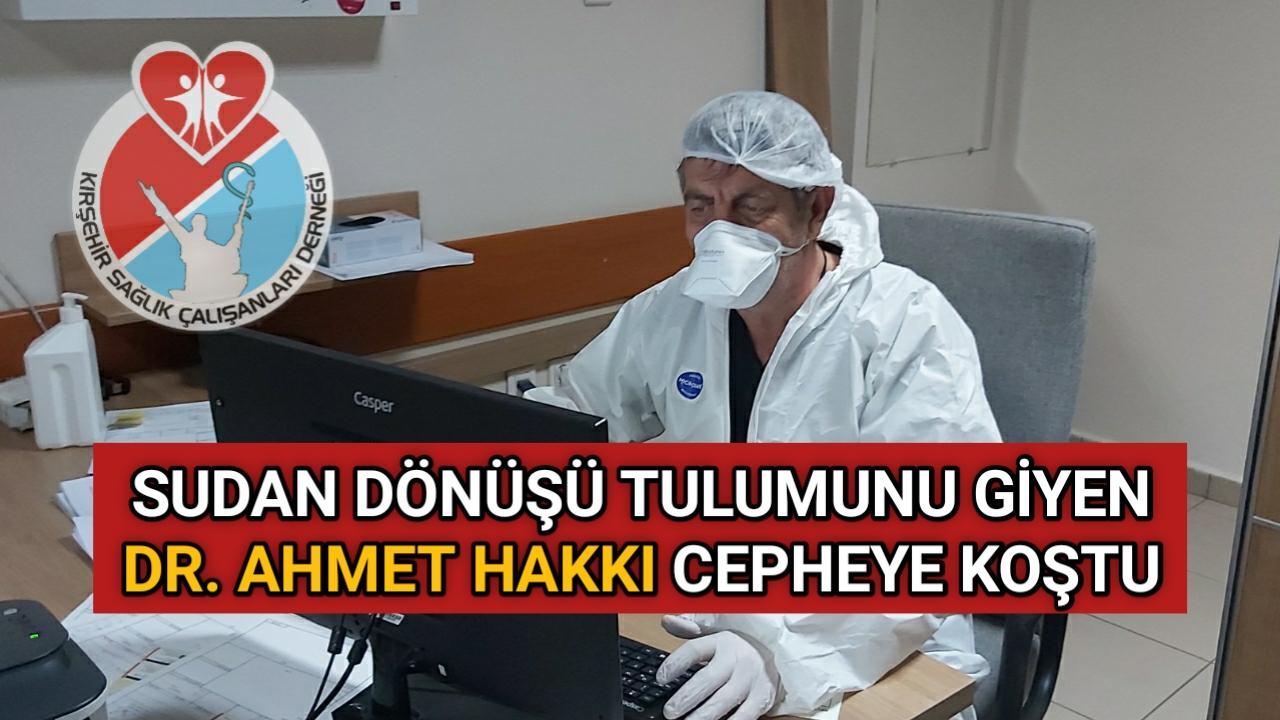 TULUMUNU GİYEN DR. AHMET HAKKI CEPHEYE KOŞTU