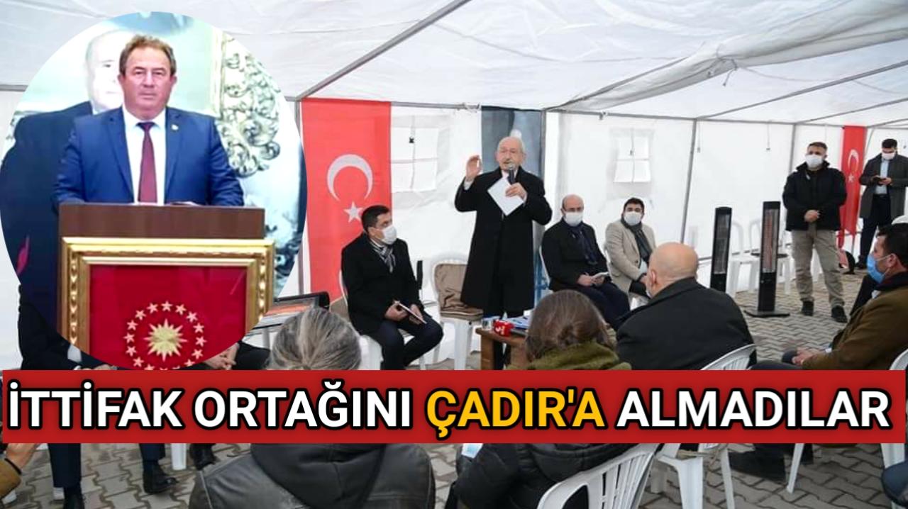 CHP LİDERİ KILIÇDAROĞLU'NUN BULUNDUĞU ÇADIR KARIŞTI