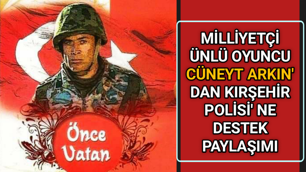 KIRŞEHİR POLİSİNE KOMSER KEMAL' DEN DESTEK PAYLAŞIMI