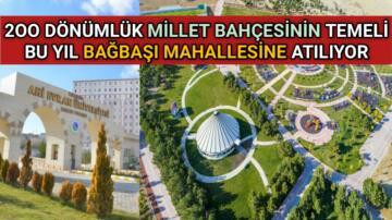 KIRŞEHİR'E BAKAN KURUM'DAN MİLLET BAHÇESİ MÜJDESİ