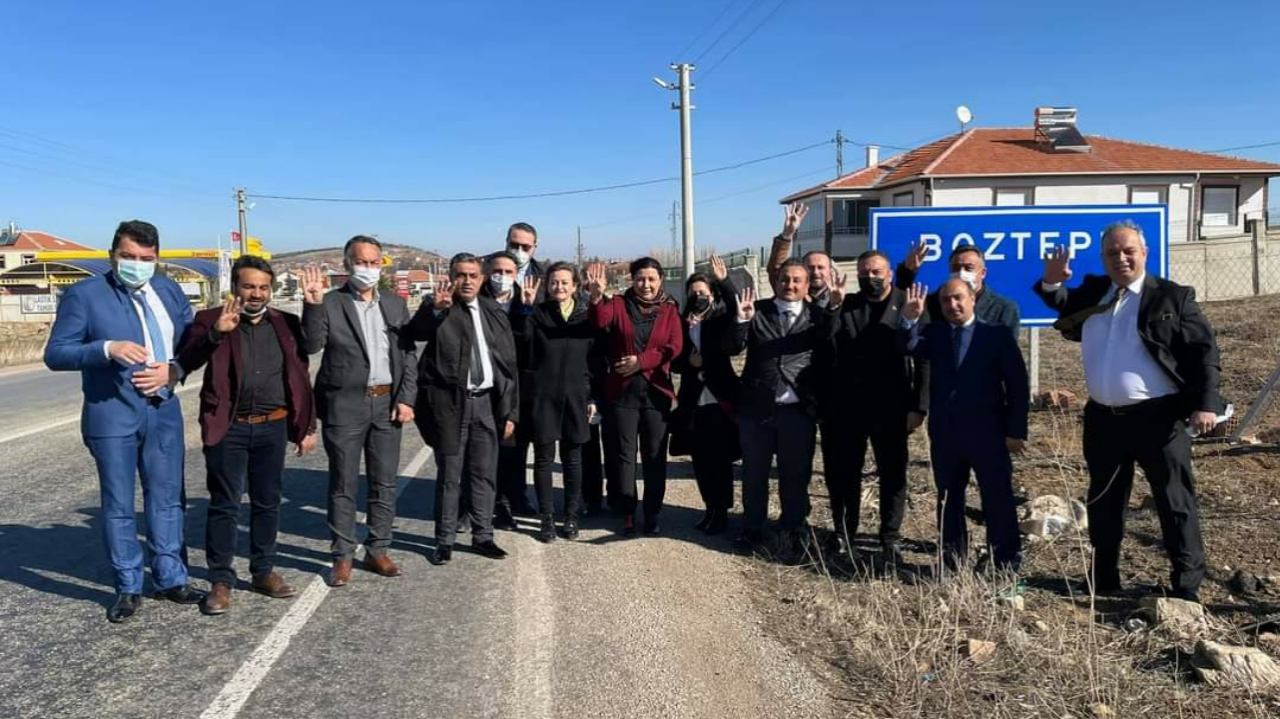 KIRŞEHİR AK PARTİ TEŞKİLATINDAN BOZTEPE'YE ÇIKARMA