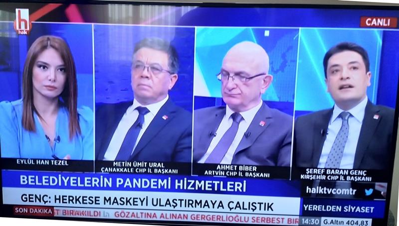 KIRŞEHİR CHP İL BAŞKANI HALK TV YAYININA KATILDI
