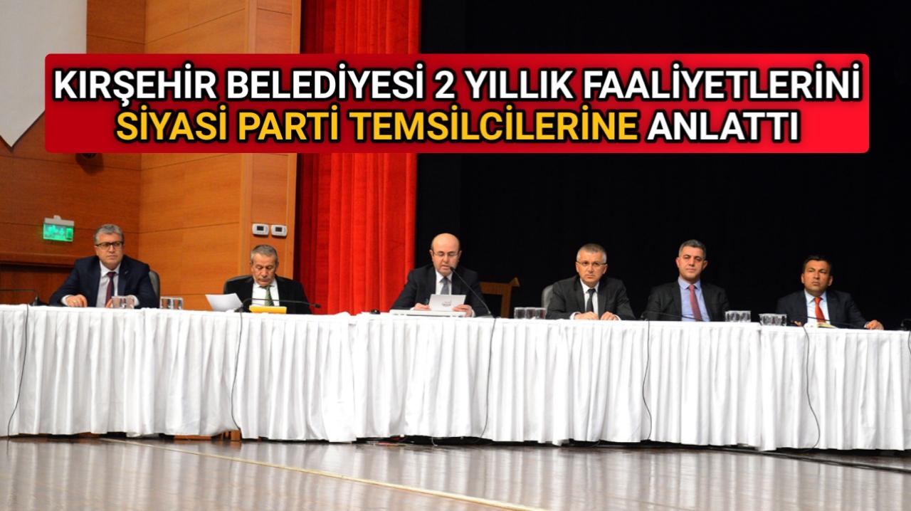 BELEDİYE'DEN SİYASİ PARTİ TEMSİLCİLERİNE SUNUM