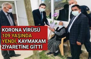 KIRŞEHİR'DE YAŞLI KADIN KORONAVİRÜSÜ 109 YAŞINDA YENDİ