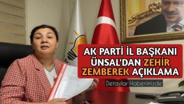 AK PARTİ İL BAŞKANI'NDAN ZEHİR ZEMBEREK AÇIKLAMA