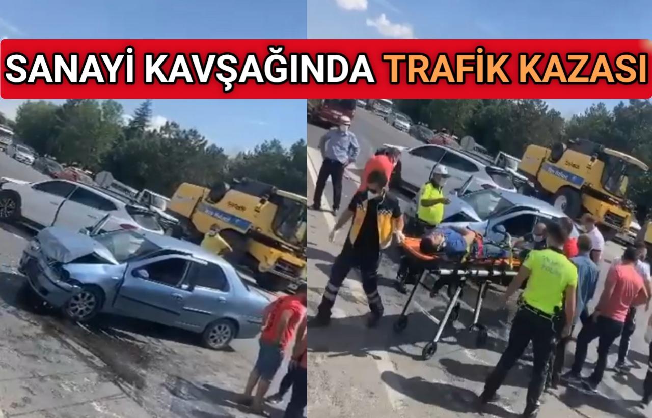 ESKİ TERMİNAL KAVŞAĞINDA TRAFİK KAZASI