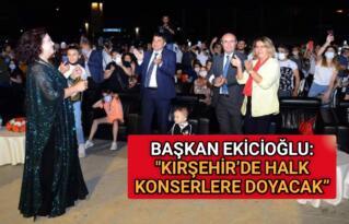 """EKİCİOĞLU: """"KIRŞEHİR'DE HALK KONSERLERE DOYACAK"""""""