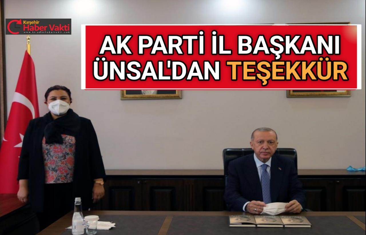 AK PARTİ İL BAŞKANI ÜNSAL'DAN TEŞEKKÜR